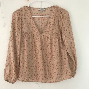 MADEWELL Pink Floral Blouse